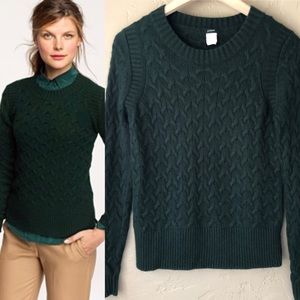J Crew Honeycomb Cable Wool Blend Sweater